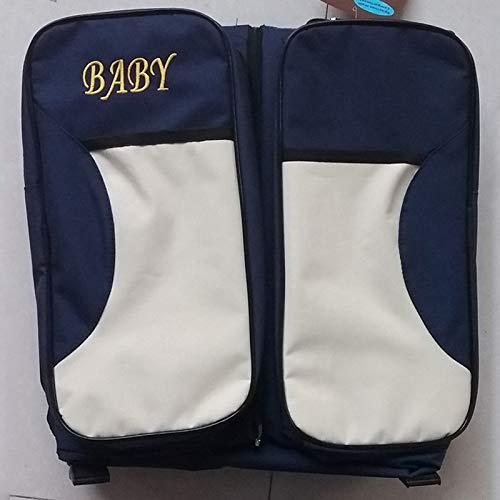XZANTE Baby 3 In 1 multifunktionale Wickeltaschen Reise Stubenwagen Marineblau Tragbare Stubenwagen /& Wickelauflage