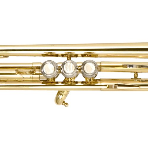 Large Product Image of Mendini by Cecilio MTT-L Trumpet, Gold, Bb