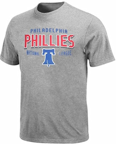 Philadelphia Phillies MLB Majestic Hit Tee Shirt Gray Big & Tall Sizes - Philadelphia Majestic Phillies T-shirt