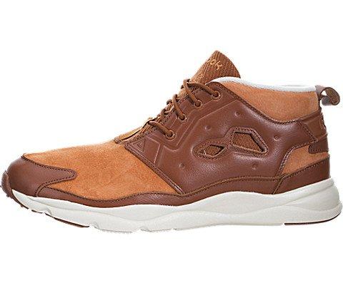Reebok Furylite Chukka L Mens Brown Mesh High Top Lace Up Sneakers Shoes 8 (Reebok Chukka Shoes)