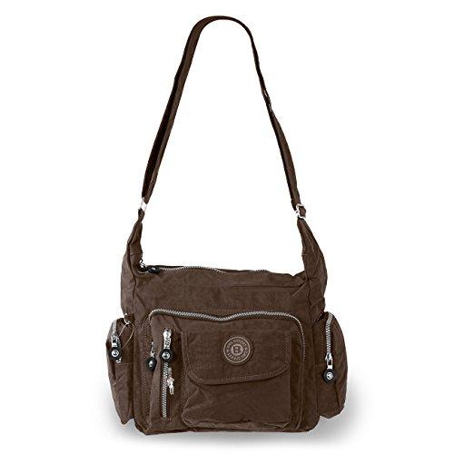 Umhängetasche Bodybag Nylon 2218 (Braun)