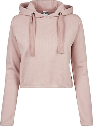 Urban Classics Ladies Interlock Short Hoody, Sudadera para Mujer Rosa (Light Rose 838)