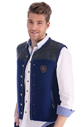 German knitted waistcoat Ramsau SW denimblue by Spieth & Wensky (Image #3)