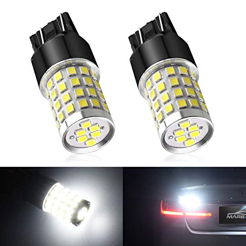 7443 LED Light Bulb, Marsauto 7443 7440 T20 4000 Lumen 6000K Xenon White Extreme Bright Replacement for Backup Reverse Brake Tail Lights, 2 Pack