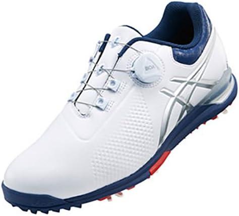 ゲルエース ツアー 3 ボア ゴルフシューズ メンズ TGN923 0149 ホワイト/インディゴブルー 26.0cm