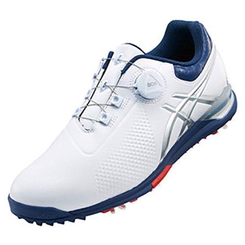 asics(アシックス) ゲルエース ツアー 3 ボア ゴルフシューズ メンズ TGN923 0149 ホワイト/インディゴブルー 26.5cm   B079NCB342