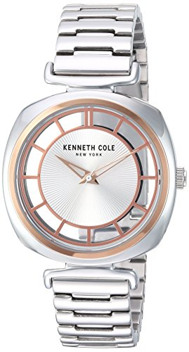 - Kenneth Cole New York Women's 'Transparency' Quartz Brass-Plated-Stainless-Steel Dress Watch, Color:Silver-Toned (Model: KC15108002)