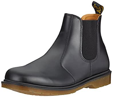 Dr. Martens Womens Airwair Leather Chelsea Style Low Heel Ankle Boot - Black - 5