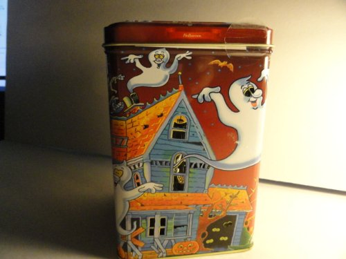Halloween Candle Tin with a Bag of Chocolate Chip Cookies Inside ()