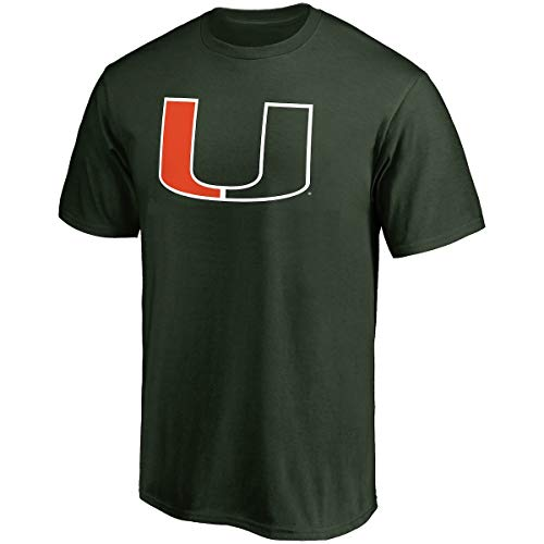 Profile Varsity University of Miami Men's Big & Tall Hurricanes Logo T-Shirt (4XL)