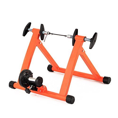 Esright Bike Trainer Bicycle Exercise Stand Magnetic Stand (Orange)