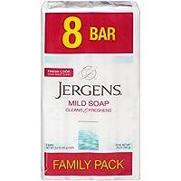 8-Count 3.5oz Jergens Mild Bar Soap