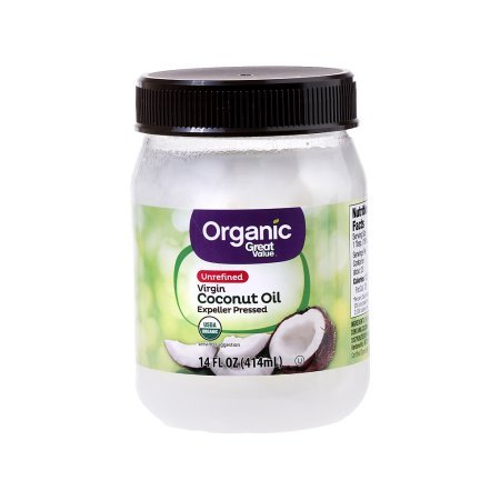 Great Value Organic Unrefined Virgin Coconut Oil, 14 (Formulas Organic Coconut Oil)