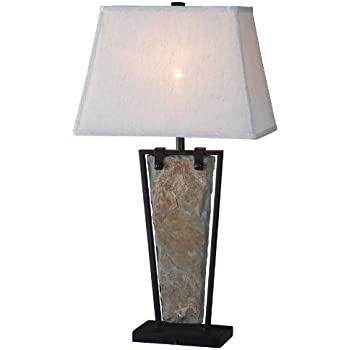 Elegant Kenroy Home 32227SL Free Fall Table Lamp, Natural Slate
