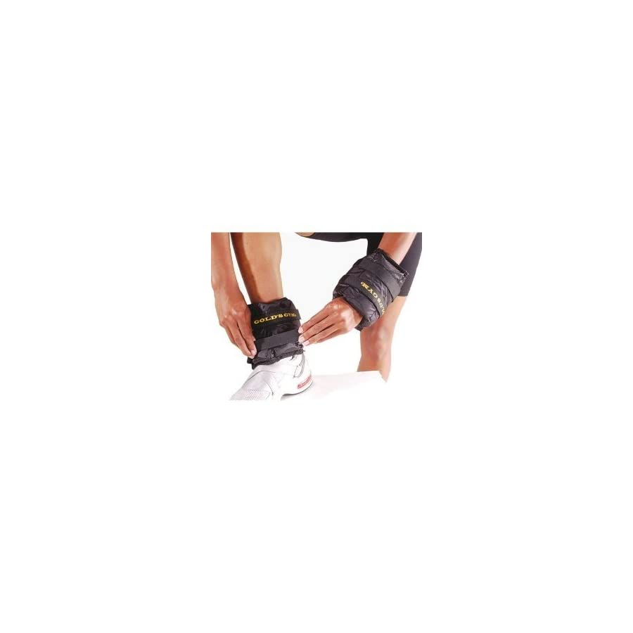 Gold's Gym Adjustable Pair Wrist/Ankle Weights 2 x 2.5 Pounds Ankle Weights