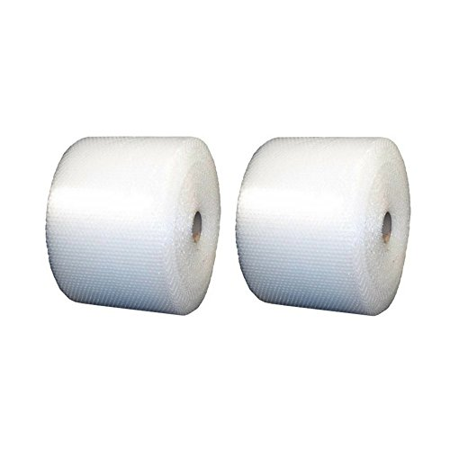 Uboxes Small Bubble Cushioning Wrap 175' 3/16, Perforated Every 12'' (BUBBSMA12175) - 2 Pack by Uboxes