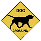Dog Silhouette Crossing 12