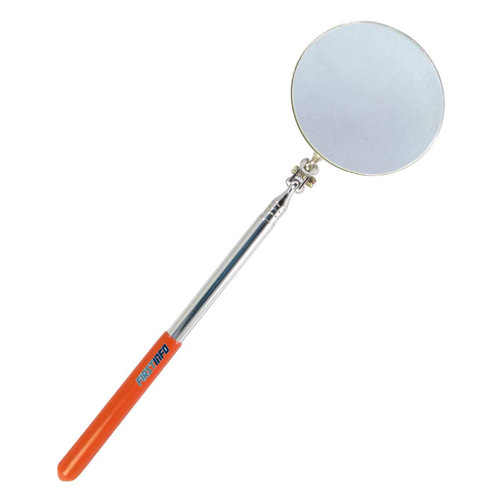 FIRSTINFO Extendable Dia 80mm Round Telescopic Inspection Mirror 267 mm to 740 mm telescoping (4 section) FIRSTINFO TOOLS Co. Ltd. H51493