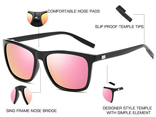 Bevi Unisex Polarized Sunglasses Wayfarer UV400 Brand Designer Sun glasses 0733C8BKPK by Bevi (Image #5)