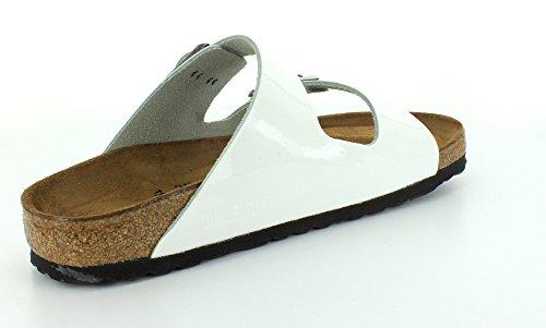 Birkenstock ARIZONA  FL 352703 - Sandalias de cuero unisex Bright White Patent