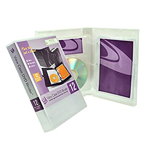 UniKeep 12 DVD/Disc Binder with Included Safety-Sleeve Pages. Store Discs and Notes in The Fully Enclosed Case.