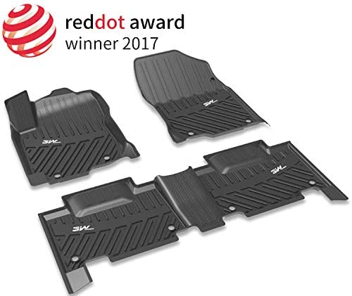3WFloorMatsCompatible forNissan Rogue 2014-2020, CustomFit TPEAllWeatherFloorLiner, 1st and 2nd RowCarMats Black(NOT for Nissan Rouge Sports)