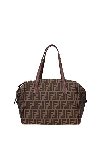 8BL12000Q0MF0E6B Fendi Bowling Bags Women Fabric Brown