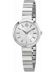Movado Silver Dial Ladies Steel Watch 0606890