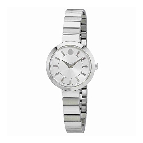 Movado Silver Dial Ladies Steel Watch 0606890