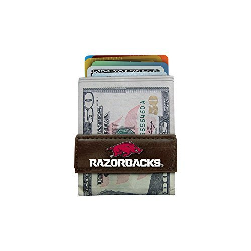 as Razorbacks Classic Football Money Clip Wallet, One Size, Brown ()