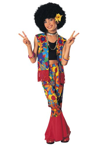 Flower Power Halloween Costume (Girl's Flower Power Hippie)