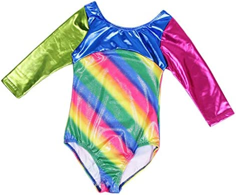 Baoblaze Gymnastiekpak voor dansen meisjes regenboog leotard overall gym esthetiek kinderen