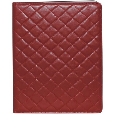 Quilted Padfolio Color: Red by Buxton