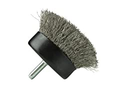 "Osborn International 16436SP Crimped Stainless Steel Wire Cup Brush with 1/4"" Shank, Light Duty, 13000 RPM Maximum Rotational Speed, 1-3/4"" Diameter"