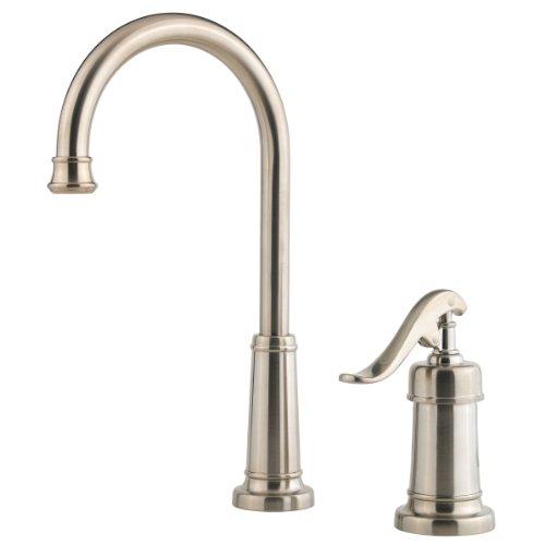 (Pfister Ashfield 1-Handle Bar/Prep Kitchen Faucet, Brushed Nickel)