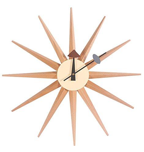サンバーストクロック ナチュラル ジョージ ネルソン デザイナー壁時計 B077TH9T1S ナチュラル サンバーストクロック ナチュラル サンバーストクロック