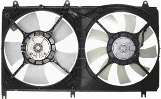 QP MG070-a Mitsubishi Galant Replacement AC A/C Condenser Radiator Cooling Fan/Shroud Assembly