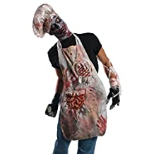 Rubie's Costume Zombie Shop Butcher's Apron, Red/White, One Size