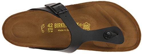 Birkenstock Gizeh Unisex Leather Sandals Black (Birko Flor) i8VxP5vs