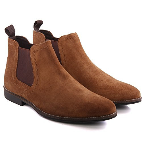 Red Tape Unze Mens Stockwood Wildleder Wüste Stiefel UK Größe 7-11 - Stockwood Suede Bräune
