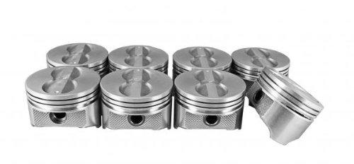 SBC 350 CID Pistons, Flattop 4 Valve Reliefs 1436 Std NEW SET OF 8