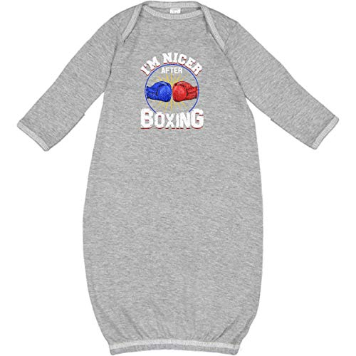 inktastic - Funny Boxing Gift for Kickboxer or Newborn Layette Heather 3633b