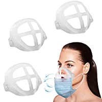 Bracket for Comfortable Breathing,Breathing Cup Bracket Soft Internal Support Frame|Under Frame Lipstick Protector Create More Breathing Space[Washable|Reusable|Translucent,3Pcs