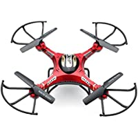 Owill JJRC H8D RC Quadcopter Drone 5.8G FPV HD 2.0M Camera+Monitor+2 Battery Xmas Gift/ Long Control Distance Helicopter (Red)
