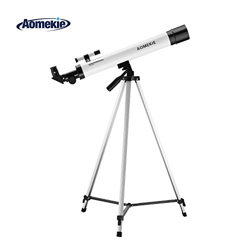 Aomekie Telescope for Kids Beginners and Astronomy 50/600 Portable...