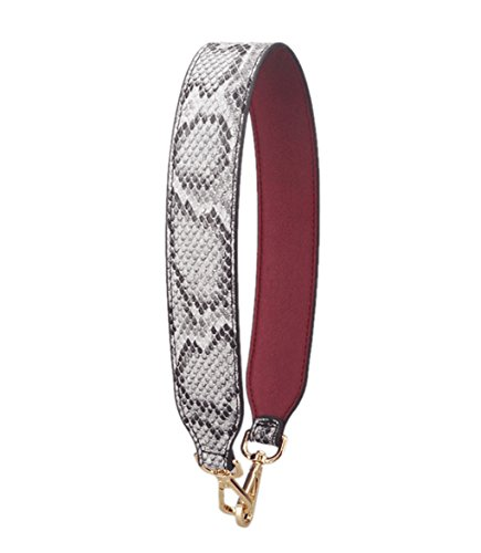 Purse Straps Replacement PU Leather Handbags Strap Shoulder Bag Straps Phone Pendant (Serpentine Gray-02)