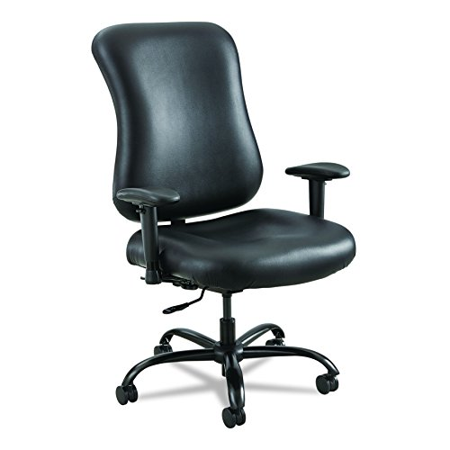 Safco Products 3592BL Optimus Big & Tall Chair, 400 lb. Capacity (Optional arms sold separately), Black Vinyl by Safco Products
