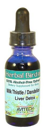 Avitech Herbal Bird Rx – Milk Thistle/Dandelion Extract for Liver Detox (1 oz.), My Pet Supplies