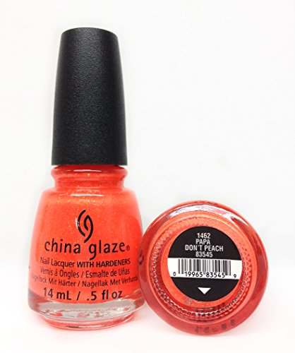 China Glaze Nail Polish, Papa Don't Peach, 0.5 Fluid Ounce