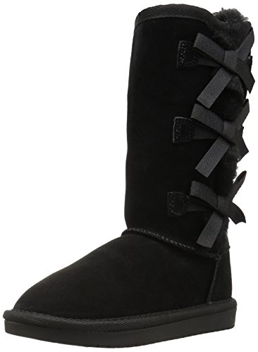 Koolaburra by UGG Victoria Tall Fashion Boot, Black, 12 Youth US Little Kid -